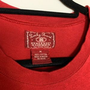 Lucky Brand Shirts - Lucky Brand Red Amsterdam Graphic Tee Q5